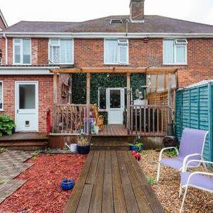 mead cres back garden with covered decking